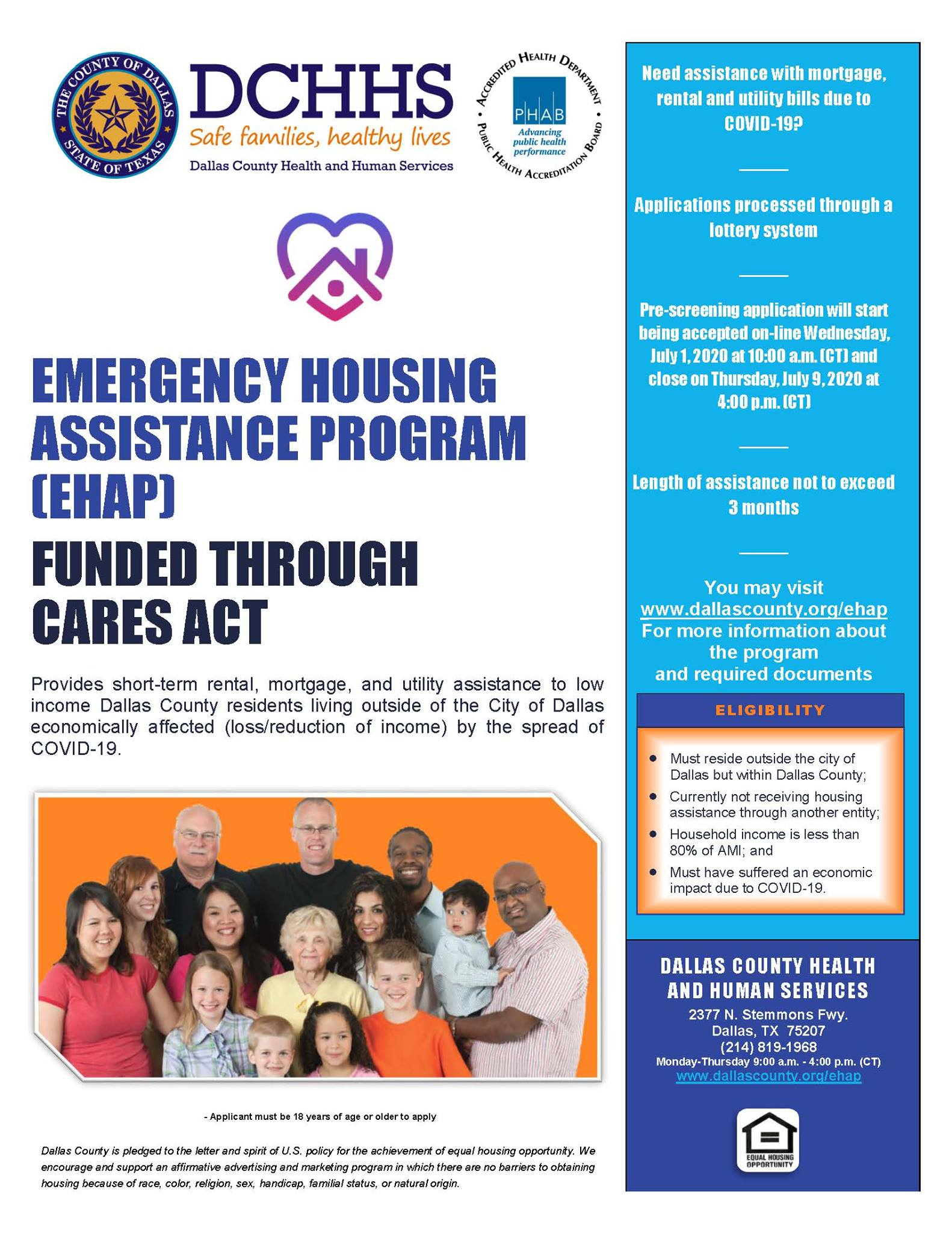 DCHHS Reopens Emergency Housing Assistance Program 1