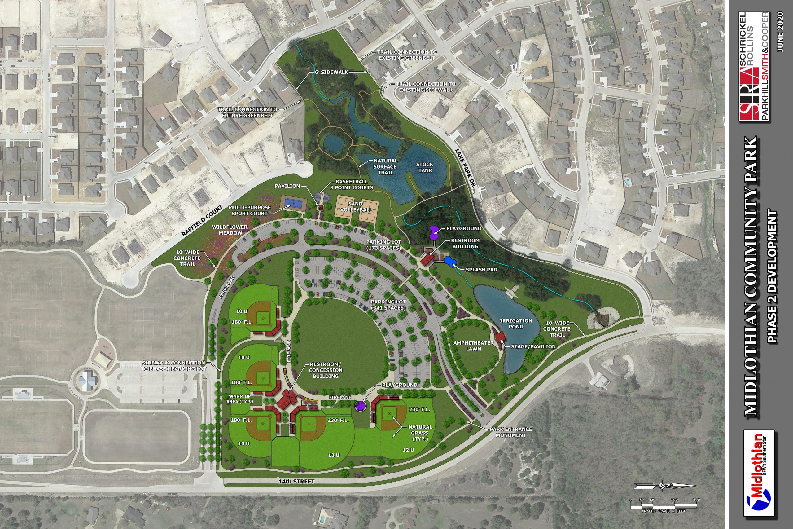 Construction Of Phase 2 Midlothian Community Park Is Underway 6
