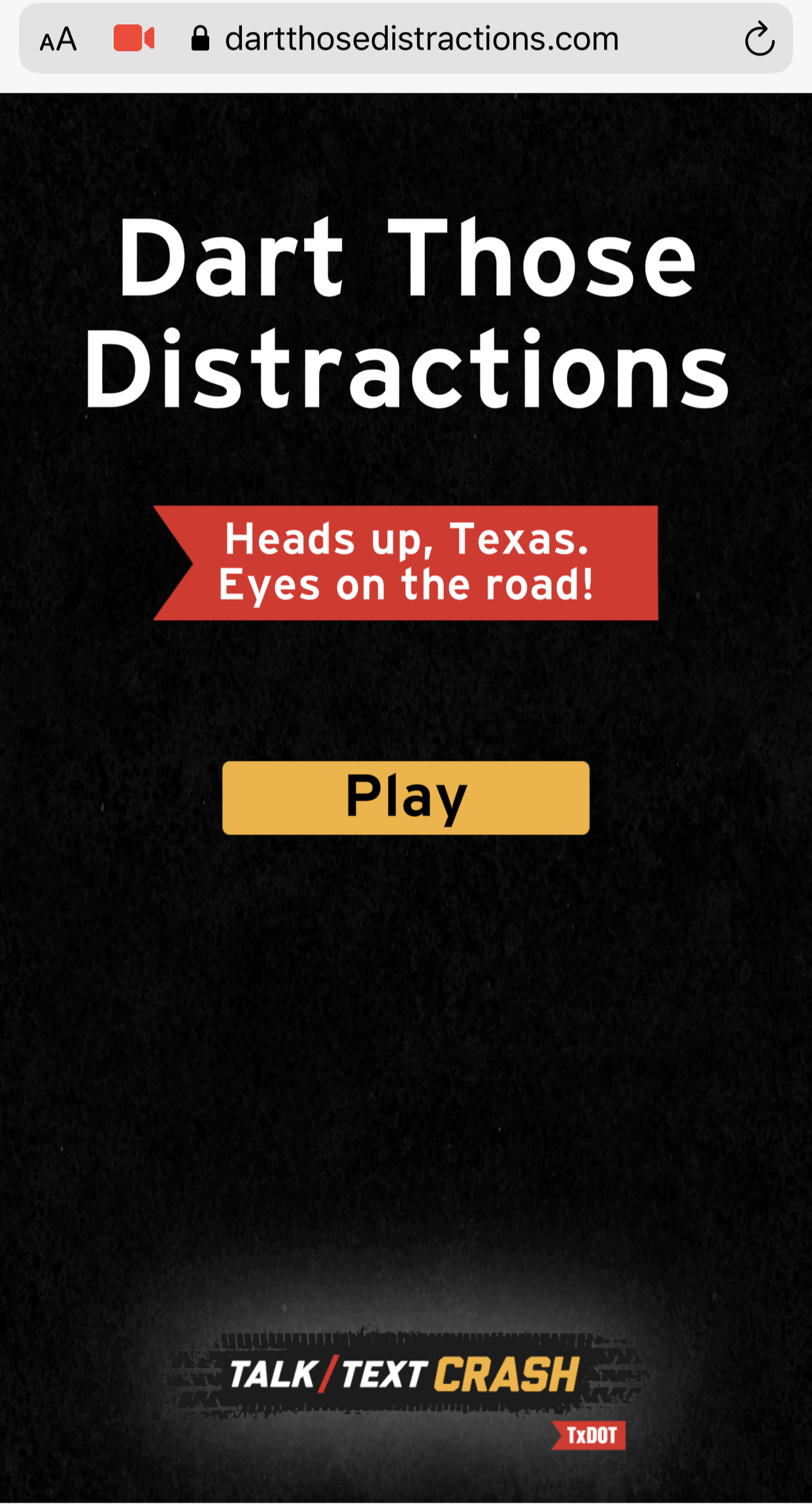 TxDOT's New AR Game Warns Drivers About Distracted Driving 1