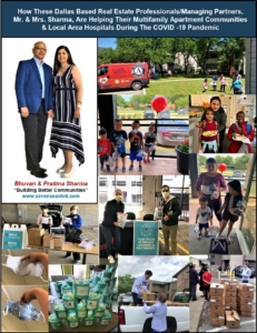 How These Dallas Based Real Estate Professionals/Managing Partners, Mr. & Mrs. Sharma, Are Helping Their Multifamily Apartment Communities & Local Area Hospitals During The COVID-19 Pandemic 10
