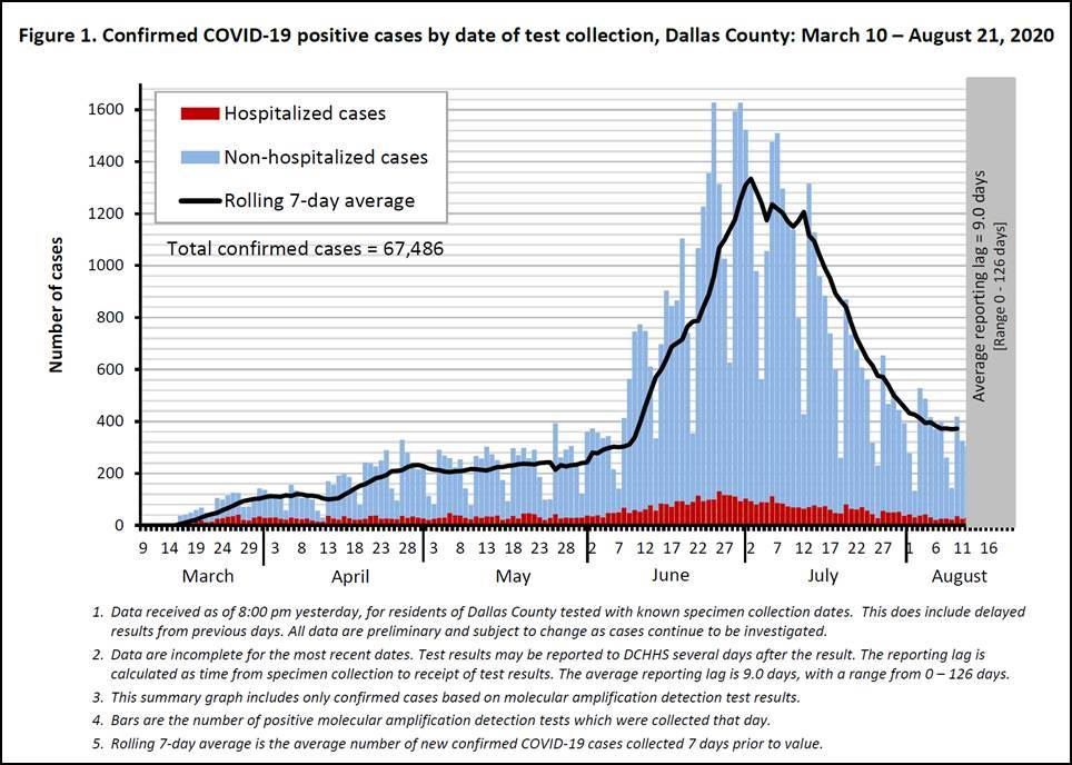 Dallas County COVID-19 Cases & Deaths Are Declining 4