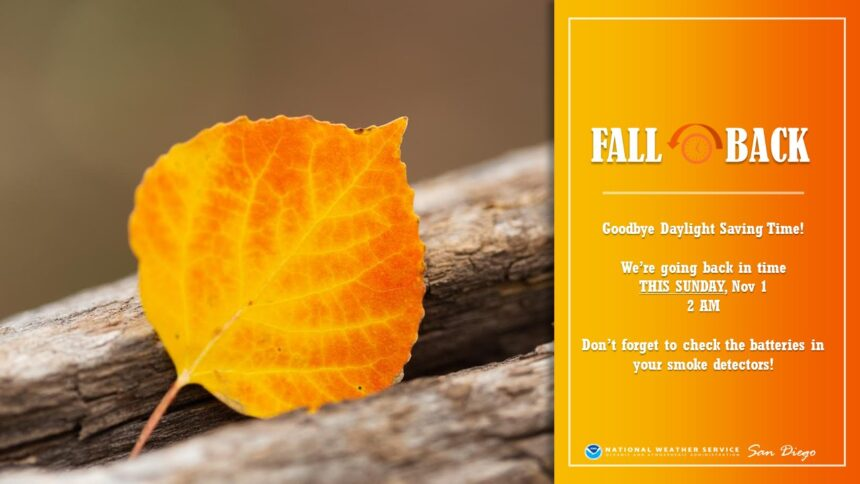It's time to fall back: Time change occurs this weekend 6