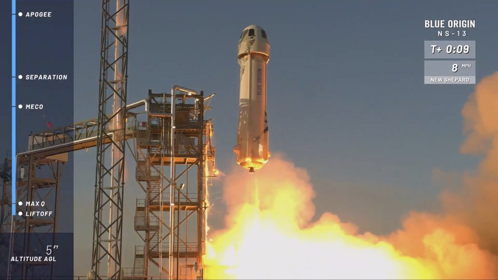 WATCH: Bezos' Blue Origin launches rocket to edge of space & back from Van Horn 5