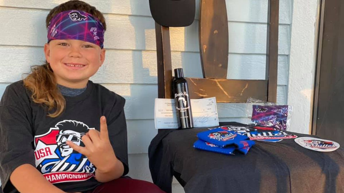 Texas boy wins first place in national mullet championship 6