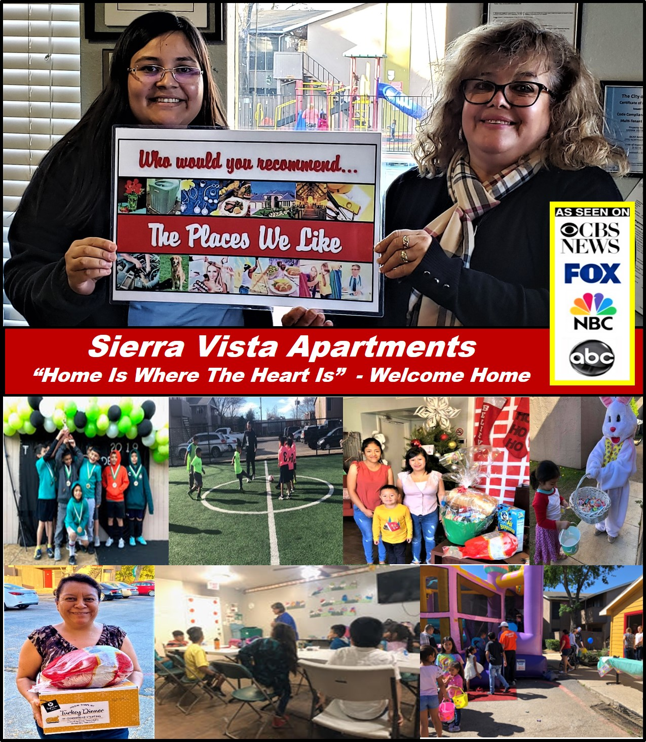"Sierra Vista Apartments In Dallas Texas Was Just Recognized By ""The Places We Like In Dallas"" As A Premier Living Community Whose #1 Priority Is The Family 6"
