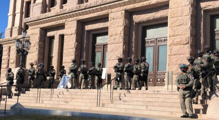 Armed pro-Trump protesters gather outside Texas state Capitol 22