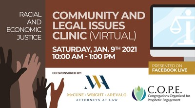 Free Online Forum for Community and Legal Issues Set for January 9, 2021 6