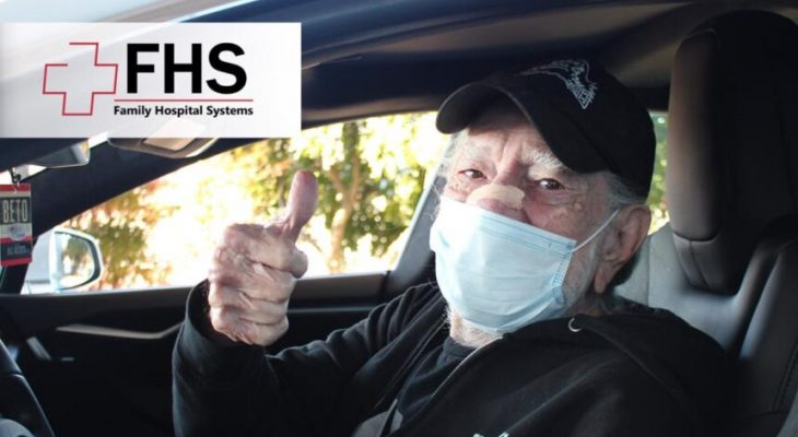Willie Nelson gives a thumbs-up after receiving Covid-19 vaccine in Texas 6