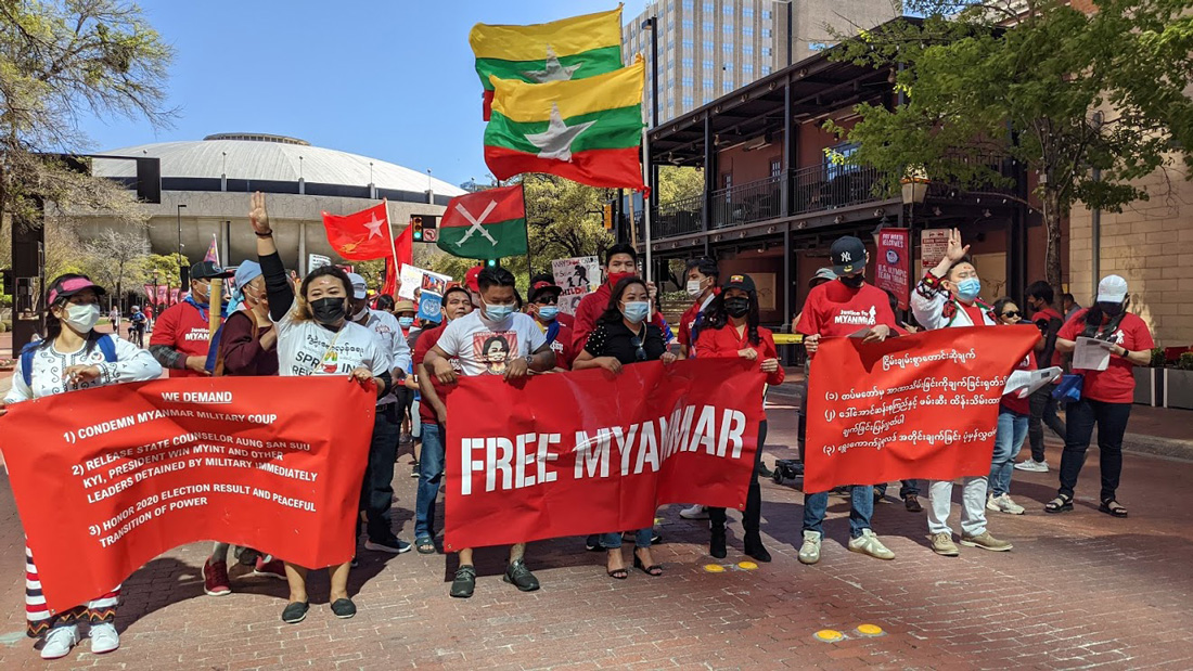 Downtown Rally Against Myanmar Coup 6