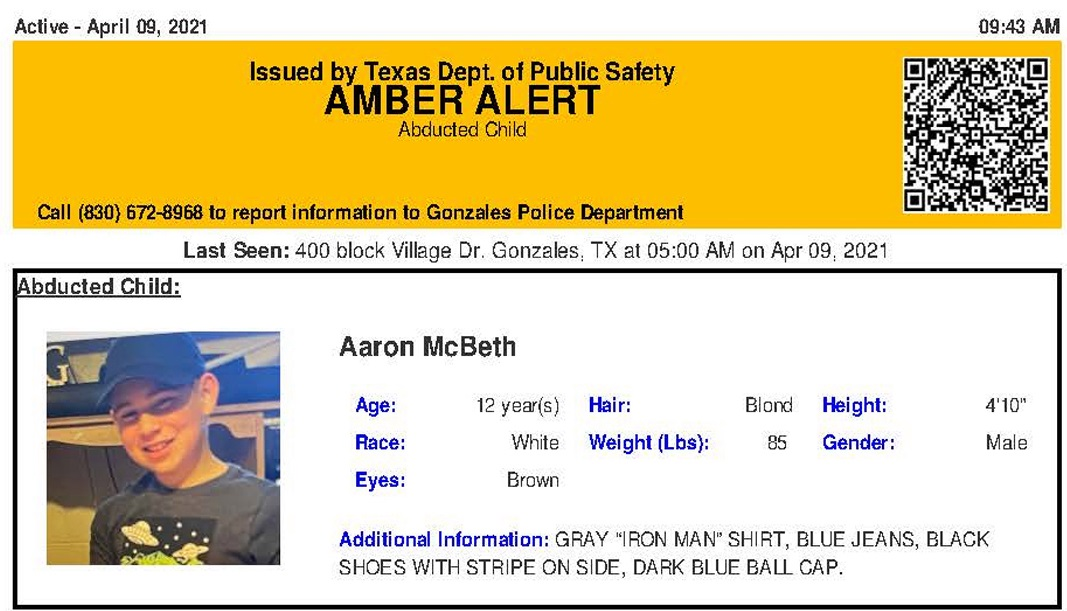 Statewide Amber Alert issued for abducted 12-year-old Texas boy 6