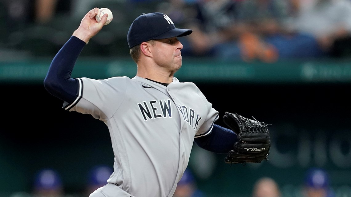 Yankees right-hander Corey Kluber throws majors' 6th no-hitter of season and 2nd in 2 days, beating Rangers 2-0 6