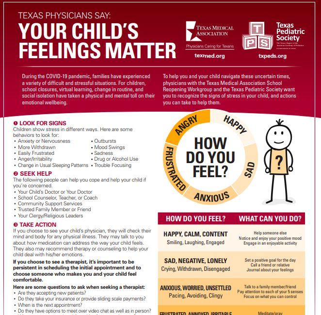 'Your child's feelings matter': New resource aims to help Texas parents identify anxiety, depression in children 6