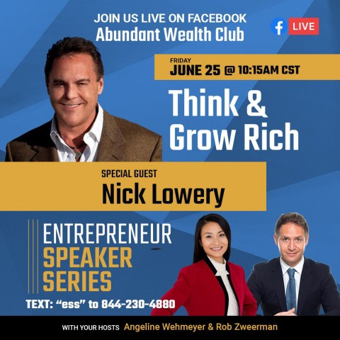 Best-Selling Author Angeline Weymeher Hosts Sports Hall of Fame, Nick Lowery, in Think & Grow Rich Entrepreneur Speaker Series 6