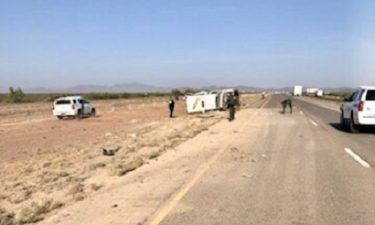 Border Patrol vehicle carrying detainees in rollover crash on I-10 west near Van Horn 6