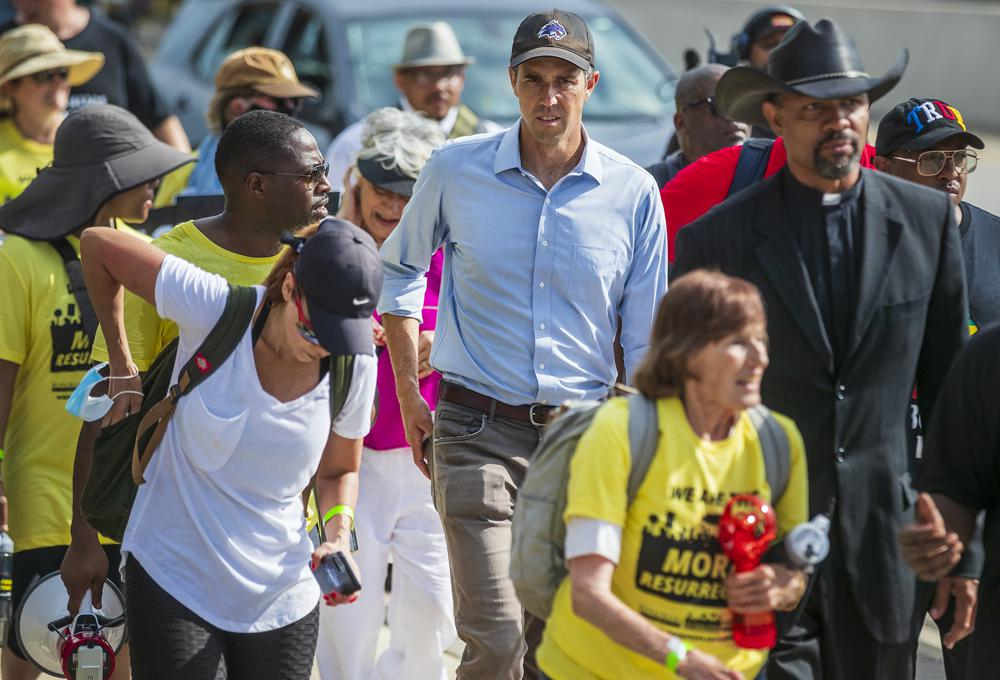 Beto O' Rourke continues journey with prominent bishop, Willie Nelson on 30-mile Texas voting march 6