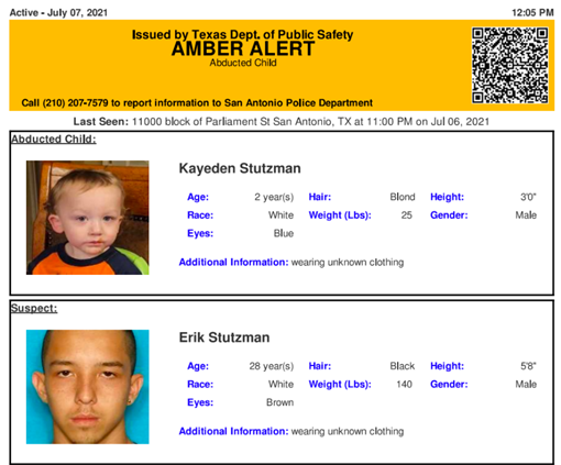 Texas Amber Alert issued for abducted 2-year-old boy 6