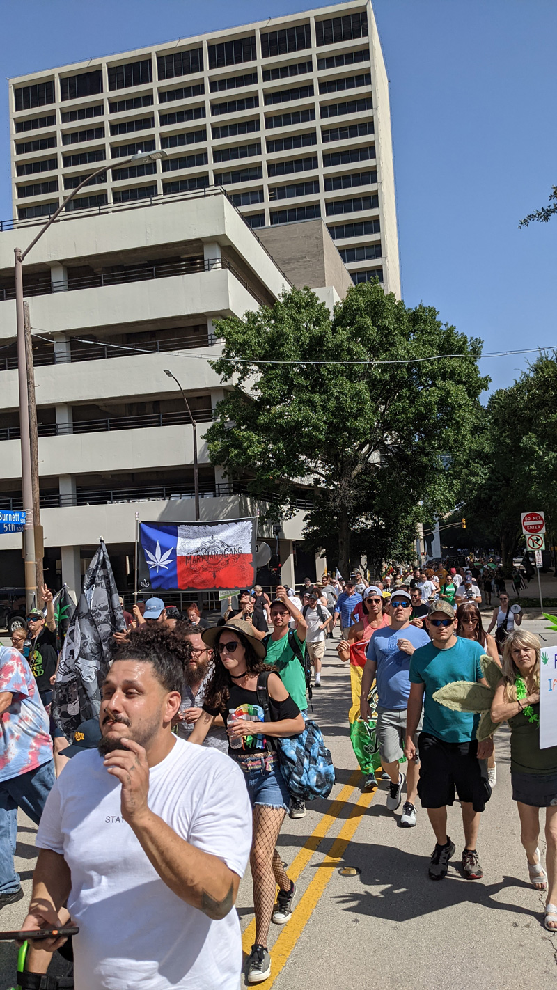 Hundreds Gather for Weed March Downtown 8