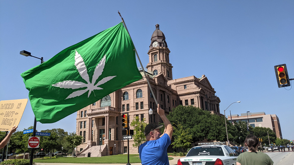 Hundreds Gather for Weed March Downtown 6