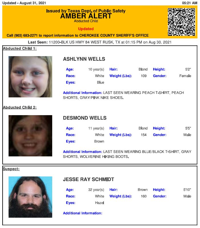 Amber Alert for 2 Texas children believed abducted by man 6