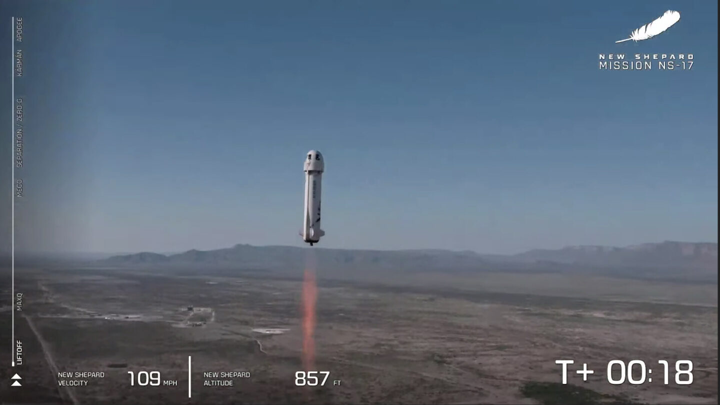 Blue Origin successfully completes 1st test flight from Van Horn with no passengers after Jeff Bezos trip 6