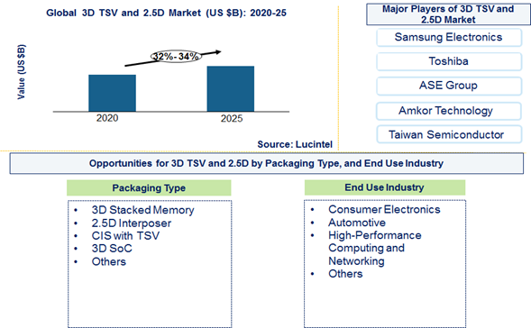 3D TSV and 2.5D Market is expected to grow at a CAGR of 32% to 34% from 2020 to 2025 – An exclusive market research report by Lucintel 13