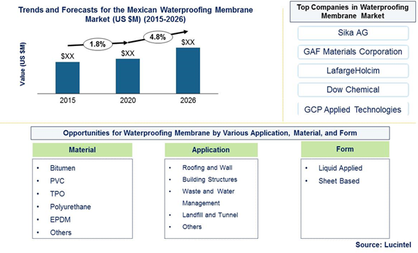 Mexican Waterproofing Market is expected to reach $24.1 Billion by 2026 – An exclusive market research report by Lucintel 6