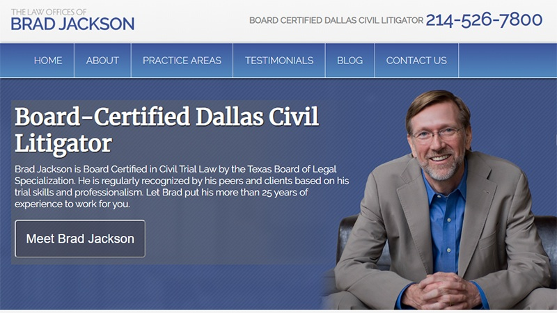 Dallas' Law Offices of Brad Jackson Attorneys Ranked Among Best in Nation 6