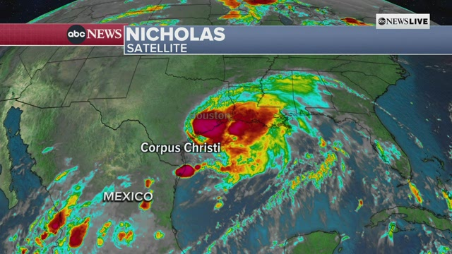 LIVE updates: Nicholas closes in on Texas after becoming hurricane 6