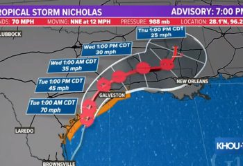 LIVE updates: Nicholas downgraded to tropical storm after making Texas landfall 12