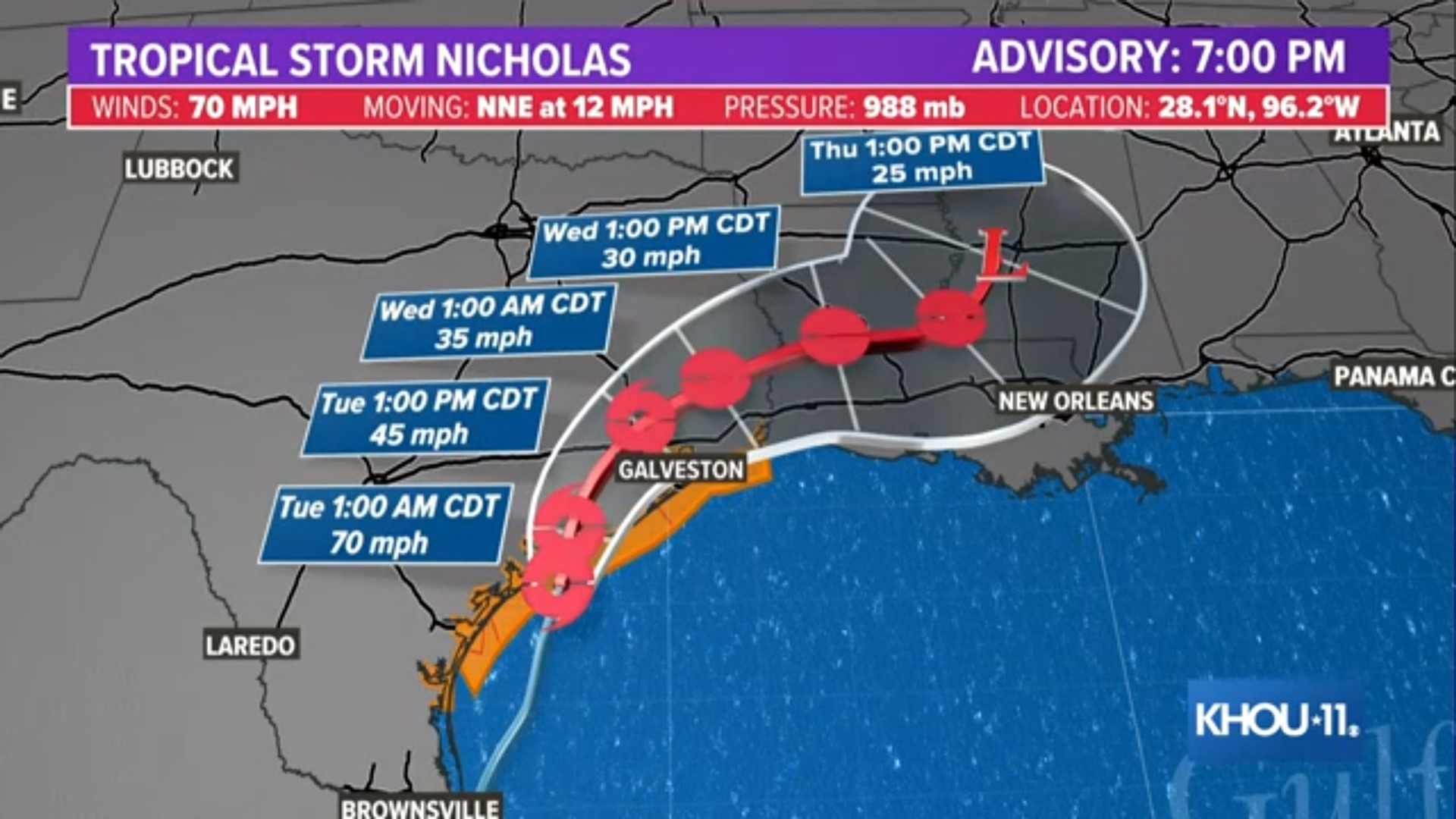 LIVE updates: Nicholas downgraded to tropical storm after making Texas landfall 6