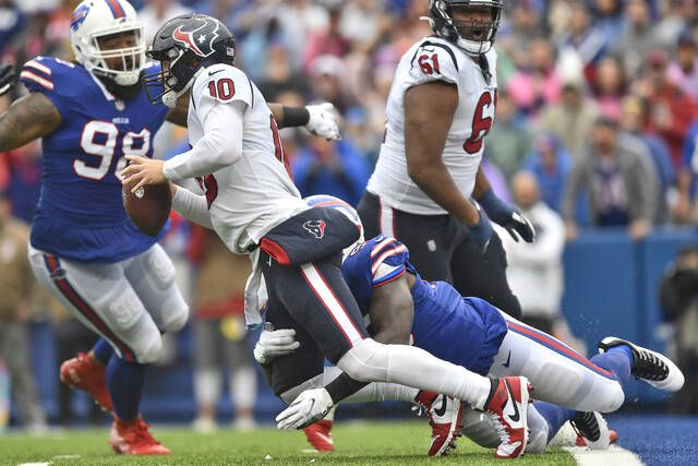 Bills force 5 turnovers, overwhelm Mills and Texans 40-0 6