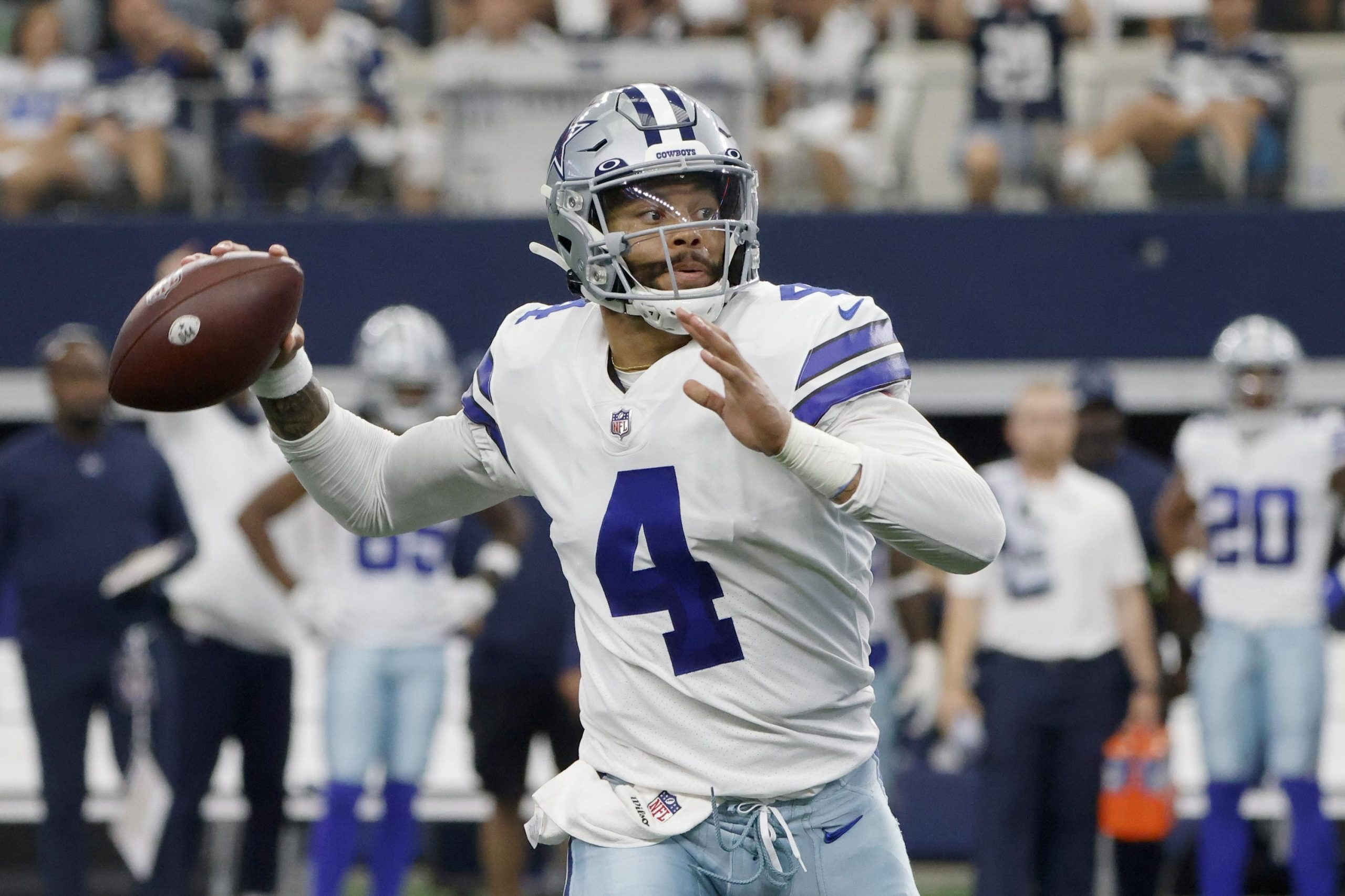 Prescott, Cowboys beat Giants 44-20 year after ankle injury 6